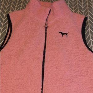 Victoria Secret Pink Sherpa vest.